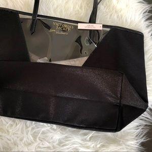 Victoria's Secret Bags - Victoria's Secret Tote Bag, Black and Tiger Print